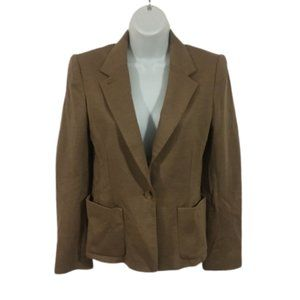 Wilfred Aritzia Tan Jacket Elbow Patch Blazer Sz 4